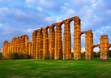 Roman Aqueduct of Merida Royalty Free Stock Image