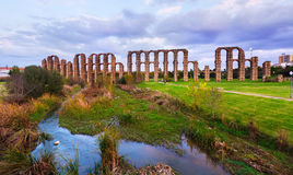 Roman Aqueduct of Merida Stock Image