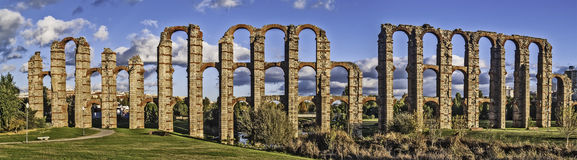 Roman aqueduct in Merida Royalty Free Stock Photos