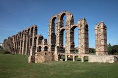 Roman aqueduct. A roman aqueduct in Merida, Spain Stock Photography