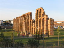 Roman Aqueduct - Merida - Spain stock photos