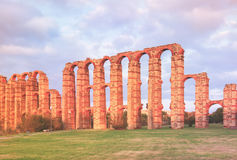 Roman aqueduct at Merida Royalty Free Stock Images