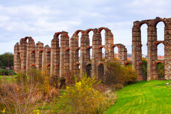 Roman aqueduct. Merida, Spain Stock Photo