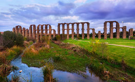 Roman aqueduct. Merida, Spain Royalty Free Stock Image