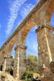Roman aqueduct near the city of Tarragona Royalty Free Stock Image