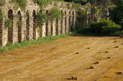 Roman aqueduct near Manavgat, Turkey Royalty Free Stock Photos