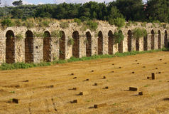Roman aqueduct near Manavgat, Turkey Royalty Free Stock Image
