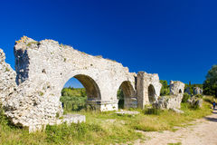 Roman aqueduct near Meunerie Royalty Free Stock Photography