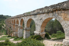 Roman Aqueduct near Tarragona Royalty Free Stock Photos
