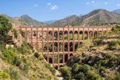 Roman Aqueduct a Nerja Fotografie Stock Libere da Diritti