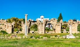Roman Aqueduct no pneumático, Líbano foto de stock royalty free