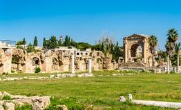 Roman Aqueduct no pneumático, Líbano imagens de stock