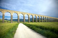 Roman aqueduct in pamplona Royalty Free Stock Image