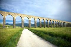 Roman aqueduct in pamplona. Roman aqueduct at pamplona city in navarra spain Royalty Free Stock Image