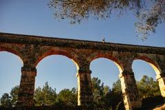 Roman Aqueduct Pont del Diable em Tarragona, Espanha fotografia de stock royalty free