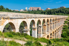 Roman Aqueduct Pont del Diable in Tarragona Royalty Free Stock Photos