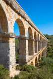 Roman Aqueduct Pont del Diable Royalty Free Stock Photography