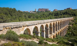 Roman Aqueduct Pont del Diable Stock Photos