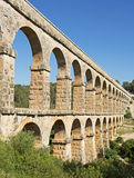 Roman Aqueduct Pont del Diable in Tarragona, Spain Royalty Free Stock Images