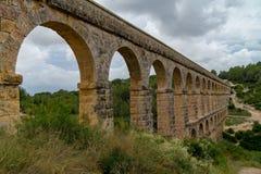 Roman Aqueduct Pont del Diable in Tarragona, Spain Stock Photos