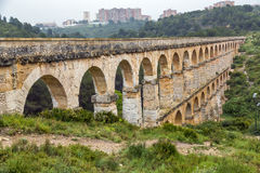 Roman Aqueduct Pont del Diable in Tarragona, Spain Royalty Free Stock Image