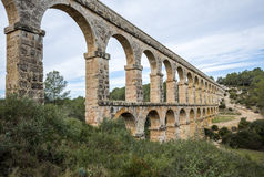 Roman Aqueduct Pont del Diable in Tarragona, Spain Royalty Free Stock Photography