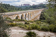 Roman Aqueduct Pont del Diable in Tarragona, Spain Stock Photo