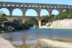 Roman aqueduct. Pont-du-Gard royalty free stock images