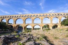 Pont du Gard, France. Roman aqueduct, Pont du Gard, France Stock Photography
