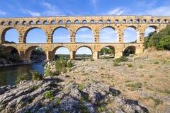 Pont du Gard, France. Roman aqueduct, Pont du Gard, France Royalty Free Stock Photos
