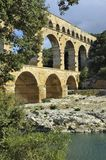 Roman aqueduct Pont du Gard, France. This bridge is an Unesco World Heritage site Royalty Free Stock Images