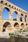 Roman aqueduct Pont du Gard Royalty Free Stock Photo