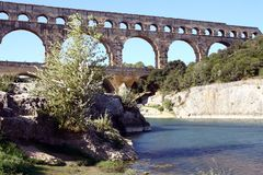 Roman aqueduct Royalty Free Stock Photo