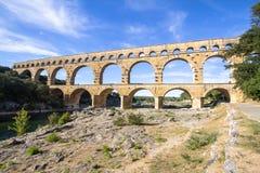 Pont du Gard, France. Roman aqueduct, Pont du Gard, France Stock Photos