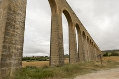 Roman aqueduct. In the province of navarra, spain Royalty Free Stock Images
