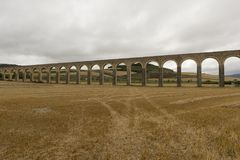 Roman aqueduct. In the province of navarra, spain Royalty Free Stock Photo