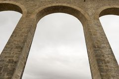 Roman aqueduct. In the province of navarra, spain Stock Photo