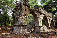 Roman aqueduct. Remains of the Roman aqueduct that served the ancient city of  Phaselis,  Turkey Royalty Free Stock Photography