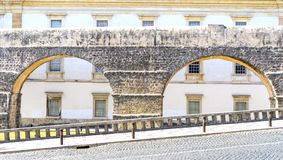 Roman aqueduct. In front of Botanical Garden at Coimbra, Portugal Stock Image