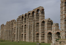 Roman Aqueduct Ruins, Merida, Spain. Remarkable Roman ruins in the town of Merida, Spain Stock Photos