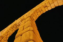 Roman Aqueduct at Segovia Stock Image