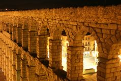 Roman Aqueduct at Segovia Stock Photos