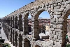 Roman Aqueduct at Segovia Royalty Free Stock Photo