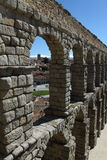 Roman Aqueduct in Segovia Stock Images