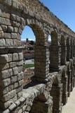 Roman Aqueduct in Segovia. The famous Roman Aqueduct in Segovia in Spain Stock Images