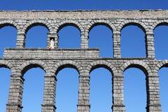 Roman Aqueduct in Segovia. The famous Roman Aqueduct in Segovia in Spain Royalty Free Stock Photos