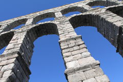 Roman Aqueduct in Segovia Royalty Free Stock Image