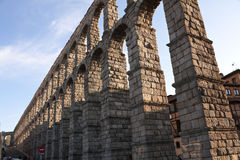 Roman Aqueduct of Segovia Royalty Free Stock Photos