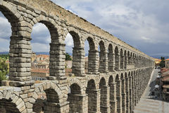 Roman aqueduct in Segovia Royalty Free Stock Photo