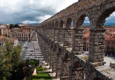 Roman aqueduct, Segovia Stock Photos